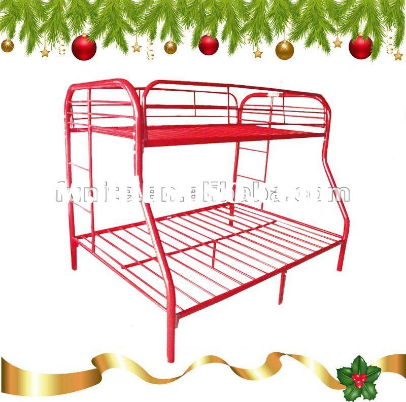 2012 good selling twin over full double decker metal bunk bed