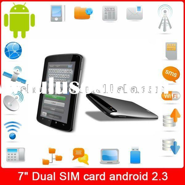 2012 hot sale car tablet pc 7 inch phone tablet pc wifi+3g dual sim+gps+tv+fm+bluetooth +dual camera