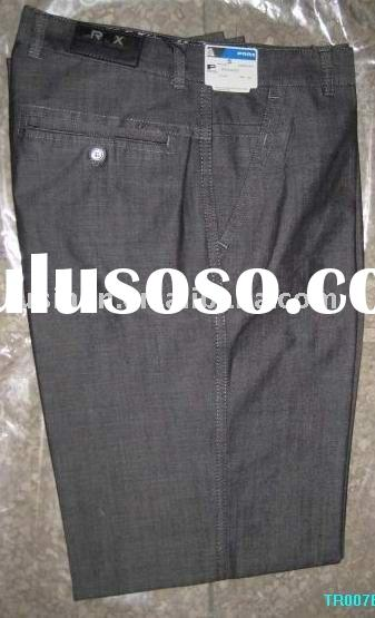2012 men's new style cotton pant with patch & embroider