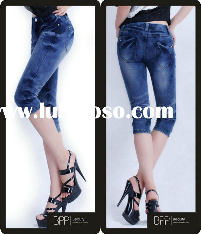 2012 new design miss me fashion short jeans for lady BPP patent pants
