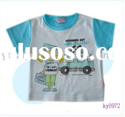 2012 new style,boy t-shirt,baby t-shirt,baby clothes,short sleeve t-shirt