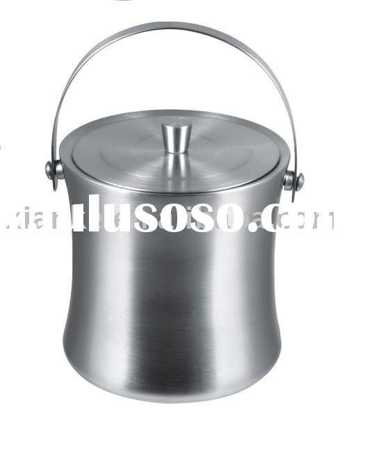 2.0L Luxurious Double-walled Stainless Steel Wedding Ice Bucket with Lid and Handle