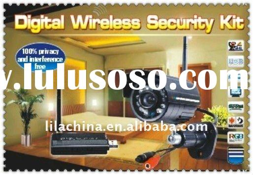 "2.4GHz 1/4"" CMOS 380TVL Outdoor Wireless Camera Kit with night vision"