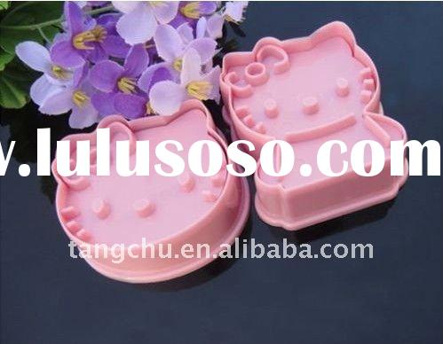 2pcs pink Hello Kitty Plastic cookie cutter Fondant Cake Tools