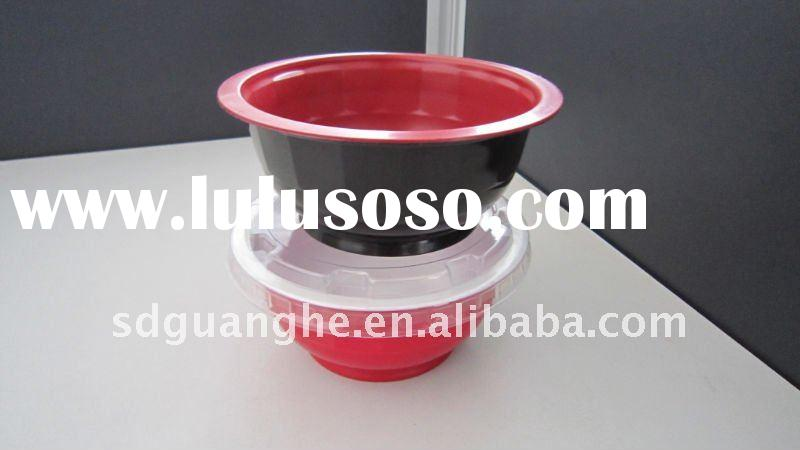 320ml PP disposable colored plastic soup bowl