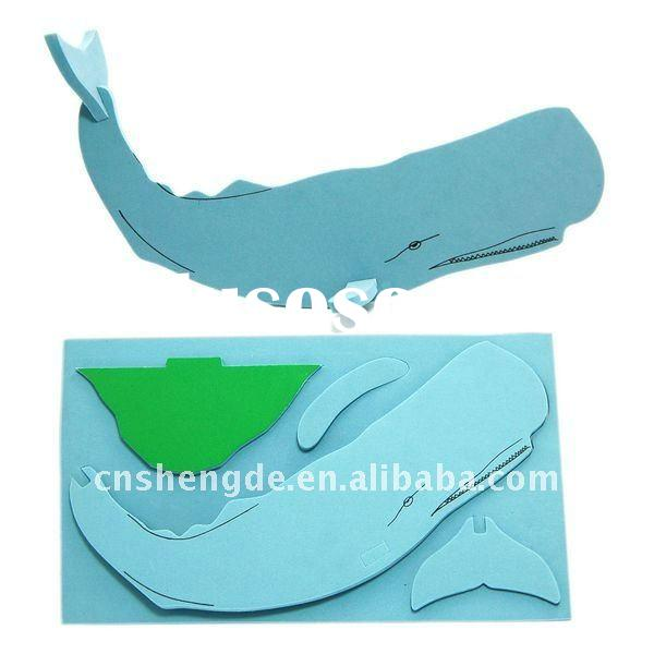3D EVA foam puzzle animal designs for kids