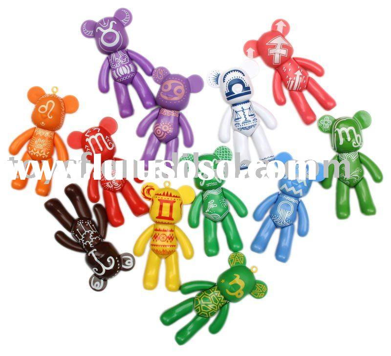 "3"" Color Bear/Key Ring/Key Holder/PVC Key Holder"