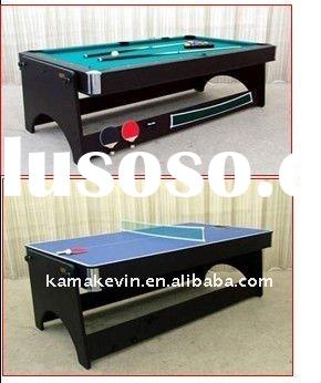 3 in 1 sprin around pool table with air hockey table