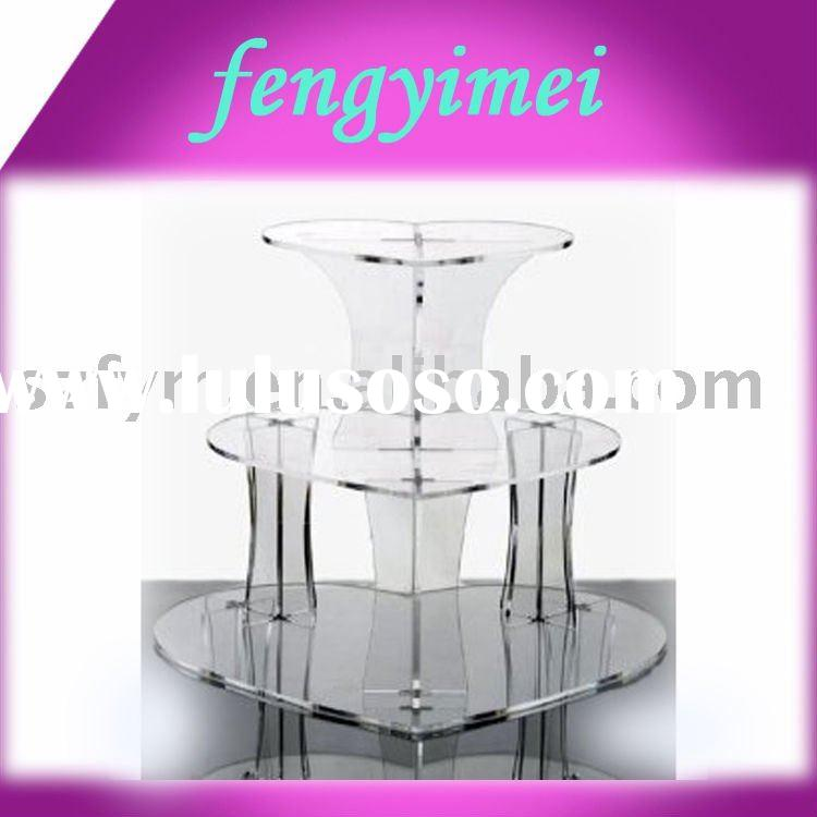 3-tires Heart Shaped Acrylic cake Stand/Square Acrylic cake stand&holder