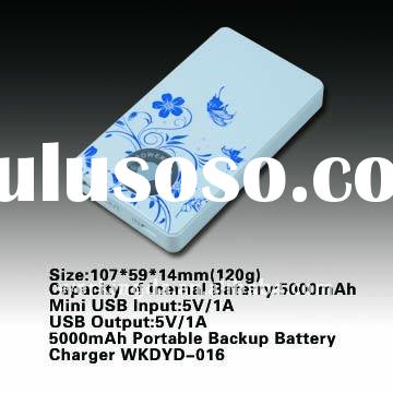 5000mAh Mini USB Input and USB Output Portable Universal Emergency Backup Mobile battery charger