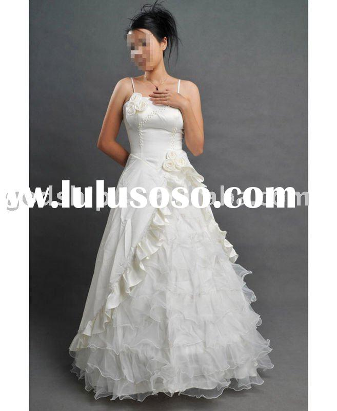 5076 polyester material and new style for wedding dress