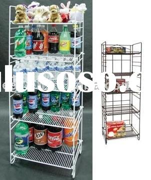 5-Tier Adjustable Display Shelf Rack / Wire Merchandiser / Food Display Rack