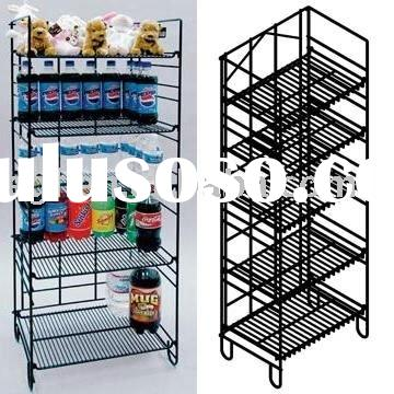 5-Tier Adjustable Wire Shelf Display Rack Stand for Bottle or Food