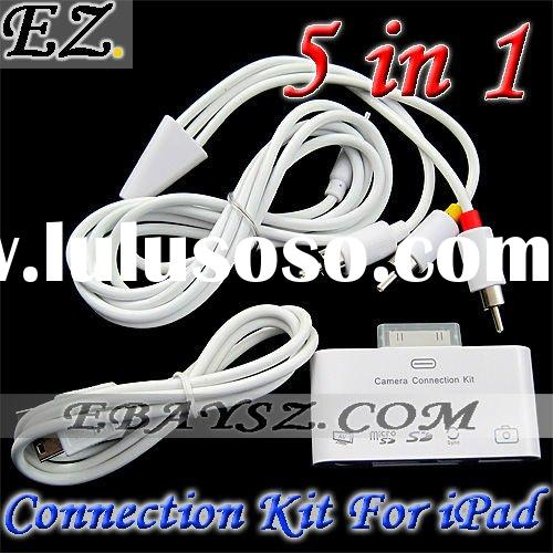5 in1 AV Camera Connection KIT SD Card Reader for iPad IP-674