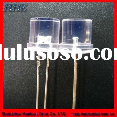 5mm white translarent flat top with flange led diode (ROHS)