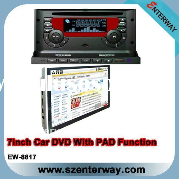 "7"" Double din car dvd With detachable front panel and work as Pad Function (EW-8817)"