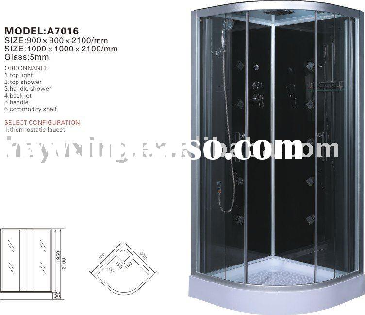 A7016HydroMassage steam shower cabin,bathroom,sanitary ware,abs acrylic shower,luxury steam room, co