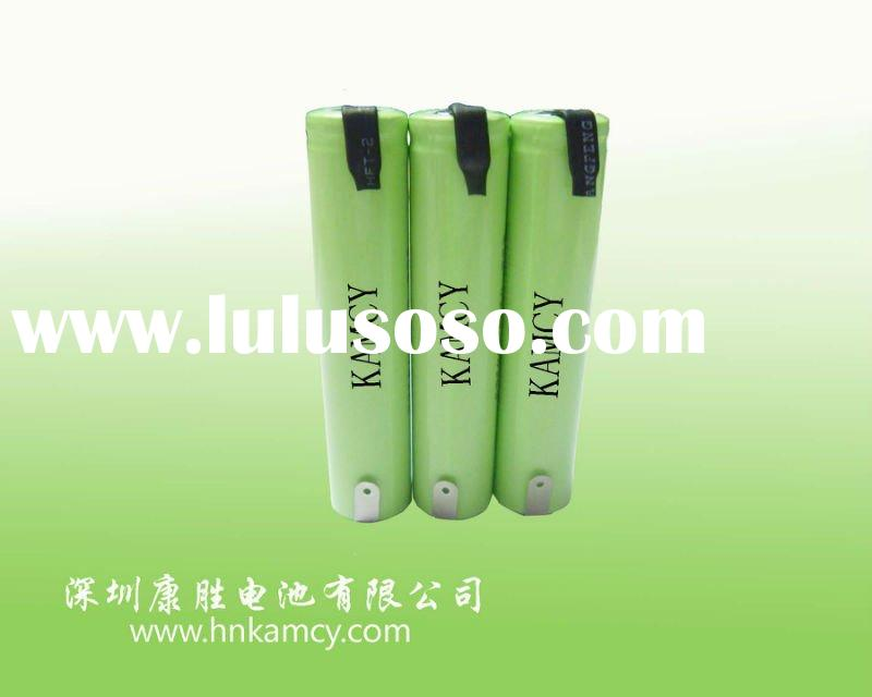 AA800 4.8V nimh rechargeable battery pack, battery with pin