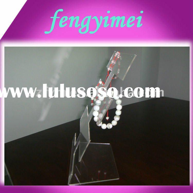 Acrylic bracelet holder/plexiglass bangle display stand/lucite bracelet display