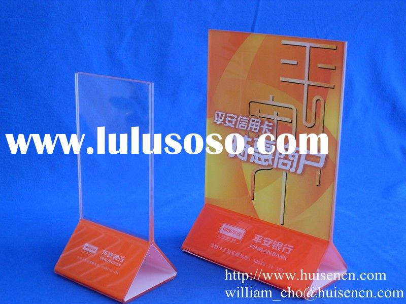 Acrylic menu holder stand for counter display