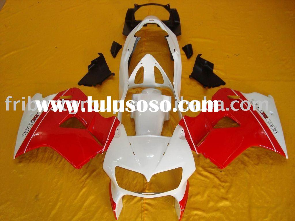 Aftermarket complete set motorcycle fairings body work cowling for VFR800 1999 red and white