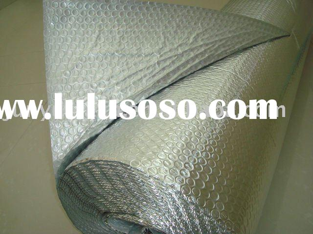 Aluminum foil heat reflective bubble insulation