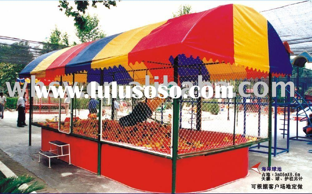 Amusement park playground plastic ocean ball pool with slide NO.SYQC