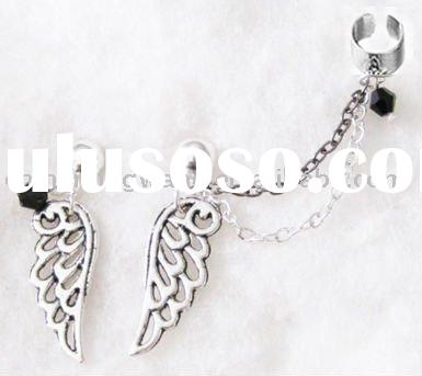 Angel Wing Double Chain Cuff Earring