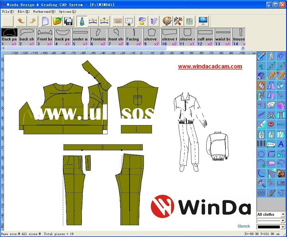 Clothing Design Software Cad Apparel CAD Pattern Design
