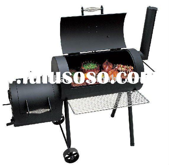 BBQ Grill with Charcoal Wood Smoker Large Firebox