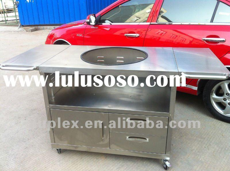 BBQ stand 304#stainless steel table fit for kamado grill/big green egg AU-21ST1