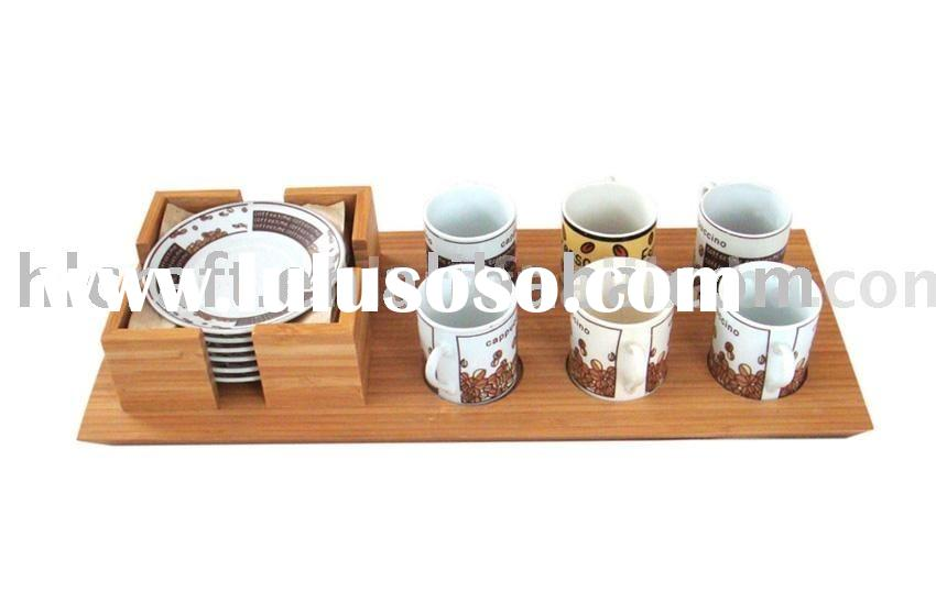 Bamboo Serving Tray Set