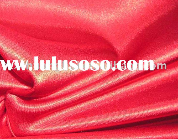Beautiful Shiny Dress Fabric/Elastic Dying Satin/Spandex Satin