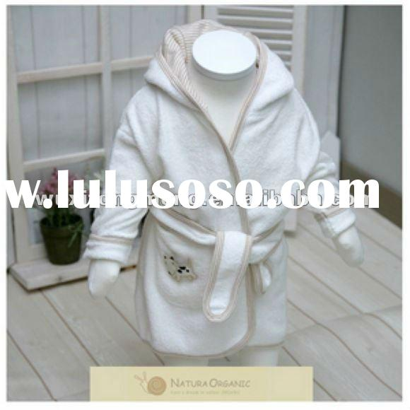 Best-seller 100% Organic Cotton hooded bathrobe for babies, baby bathrobe, bathrobe for kids