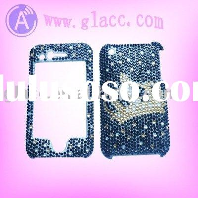 Bling Bling crystal stone sticker Guard case For Apple Iphone 3G