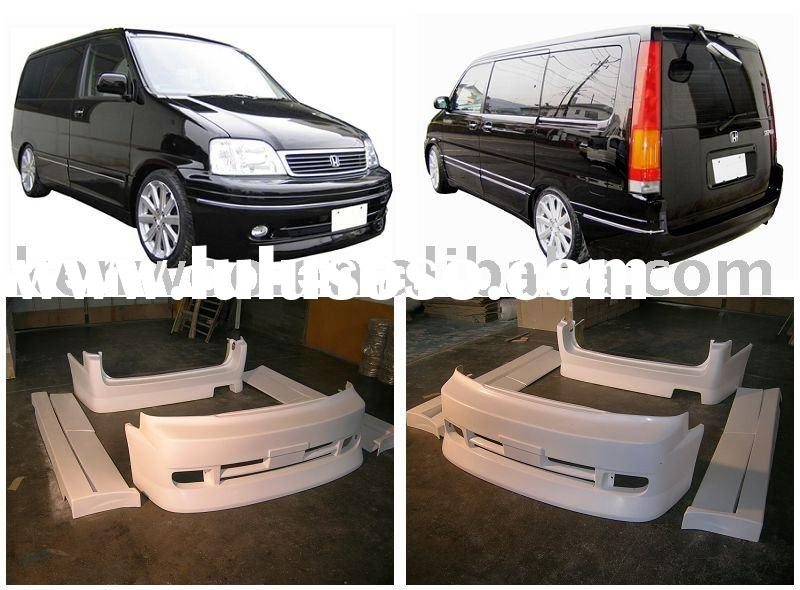 Car bumpers for HONDA STEP WGN RF1/2(FRONT BUMPER, REAR BUMPER, SIDE SKIRTS, DOOR PANEL )