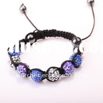 Charms shamballa beads wholesale bracelets & bangles bracelets and bangles--JB1040