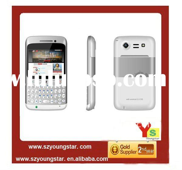 Cheap QWERTY phone 2.6'' screen Dual sim cards Android 2.2 GPS WIFI TV mobile phone