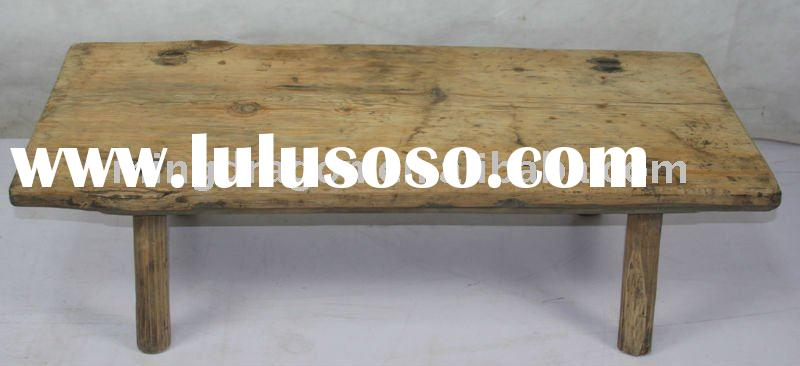 Chinese rustic natural solid wood coffee table