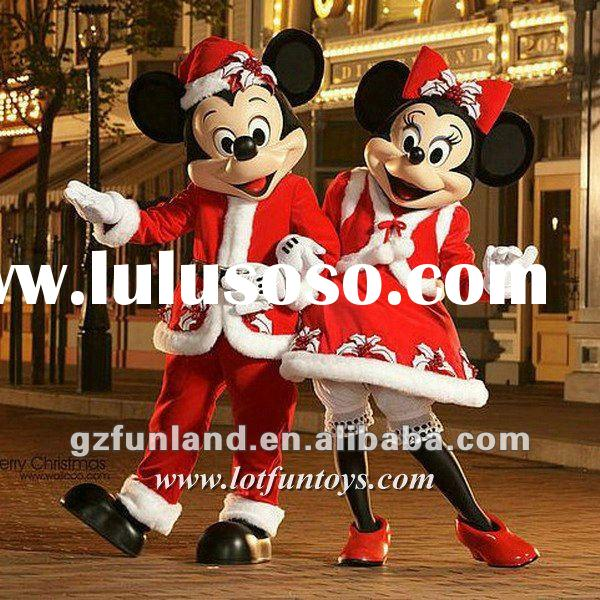 Christmas Mickey & Minnie Mouses Character / Mascot Costume.