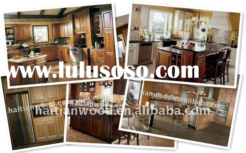 Classic DIY Solid Wood Kitchen Cabinets Design(made in China)