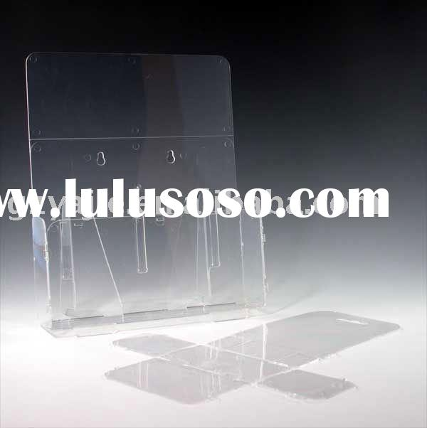 Clear Lay Flat/Fold Up Brochure Holder-Acrylic-Counter top