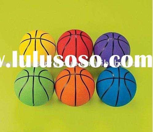Colorful Rubber Basketball /Rainbow Basketball