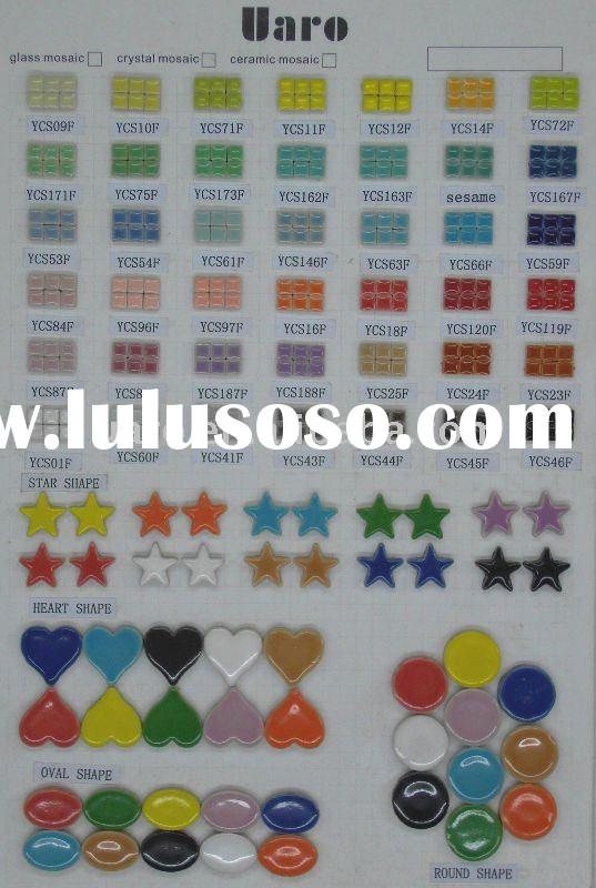 Colorful special shape ceramic mosaic tile for craft