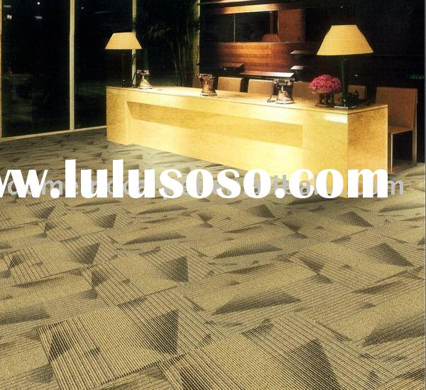 Commercial carpet carpet tile solution nylon 6.6 PVC backing LEED CRI