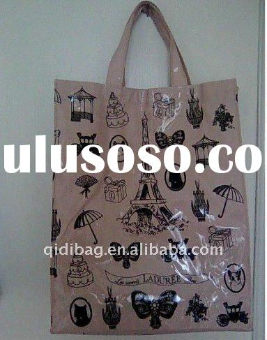 Cotton bag with pvc coated
