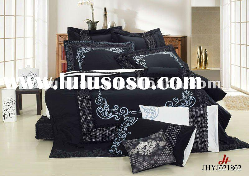Cotton embroidered comfoter sets/embroidered bed sheets