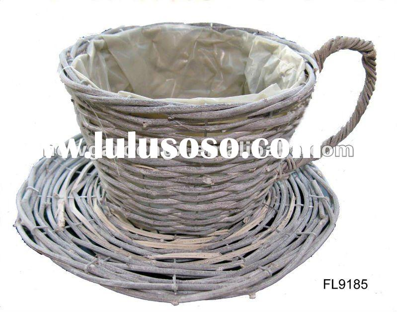 Cup and Saucer Willow Flower Planter