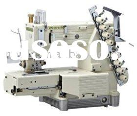 Cylinder-bed multi-needle double chain sewing machine