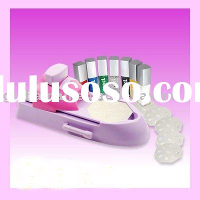 DIY Nail Art Design Printing Stamp Stamper Machine Kit